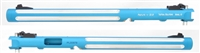 "TacSol Tactical Solutions Mark IV Matte Turquoise Pac-Lite 10"" Silver Flutes 1/2x28 threads"