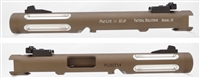 "TacSol Tactical Solutions Mark IV Pac-Lite 4.5"" Fluted Matte Quicksand (FDE) Silver Flutes"