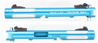 "TacSol Tactical Solutions Mark IV Pac-Lite 4.5"" Fluted Turquoise Silver Flutes"