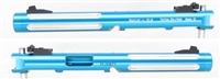 "TacSol Tactical Solutions Mark IV Pac-Lite 6"" Turquoise Silver Flutes"