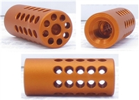 "TacSol Tactical Solutions Ridge-Lite Matte Orange Compensator for S&W Victory 1/2""x28 Threads"