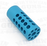 "TacSol Tactical Solutions Ridge-Lite Matte Turquoise Compensator for S&W Victory 1/2""x28 Threads"