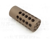 "TacSol Tactical Solutions Ridge-Lite Matte Quicksand (FDE) Compensator for S&W Victory 1/2""x28 Threads"