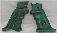 Volquartsen MK3 Green Laminated Wood Pistol LEFT Hand Grips