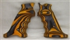 Volquartsen Mark 3 Orange Laminated Wood Pistol LEFT Hand Grips