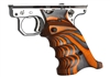 Volquartsen Mark 3 Orange Laminated Wood Pistol Right Hand Grips
