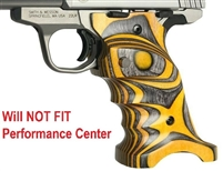 Volquartsen Yellow Right Hand Laminated Wood Grips for S&W SW22 Victory VCSWG