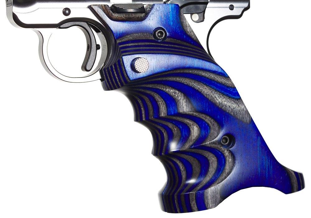 Volquartsen Laminated Wood Pistol Grips Ruger Mark 4 IV Blue