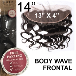 13 x 4 Body Wave Brazilian Full Lace Frontal 14 Inches
