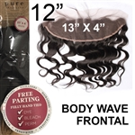 13 x 4 Body Wave Brazilian Full Lace Frontal 12 Inches