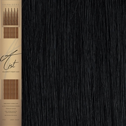 "A List Flat Tip, Pre Bonded Remy Human Hair Extensions 22"" Colour 1"