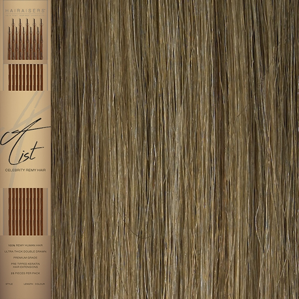 22 Inches Flat Tip Pre Bonded Remy Human Hair Extensions Colour 121416
