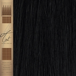 "A List Flat Tip, Pre Bonded Remy Human Hair Extensions 22"" Colour 1B"