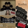 Brazilian Body Wave Remy Human Hair Weft 230g Full Head