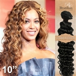 Brazilian Deep Wave Remy Human Hair Weft 10 Inches