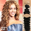 Brazilian Deep Wave Remy Human Hair Weft 22 Inches