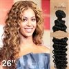 Brazilian Deep Wave Remy Human Hair Weft 26 Inches