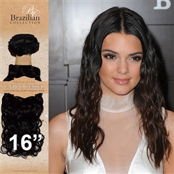Unprocessed Virgin Brazilian Jackson Curl Human Hair Weft 16 Inches. 100g