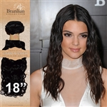 Unprocessed Virgin Brazilian Jackson Curl Human Hair Weft 18 Inches. 100g