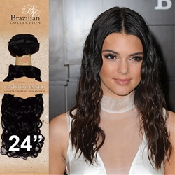 Unprocessed Virgin Brazilian Jackson Curl Human Hair Weft 24 Inches. 100g