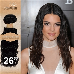 Unprocessed Virgin Brazilian Jackson Curl Human Hair Weft 26 Inches. 100g