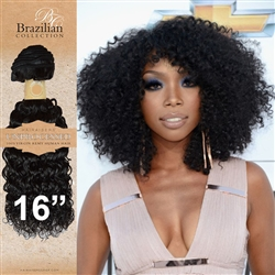 Unprocessed Virgin Brazilian Kinky Curl Human Hair Weft 16 Inches. 100g