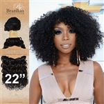 Unprocessed Virgin Brazilian Kinky Curl Human Hair Weft 22 Inches. 100g