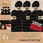 Virgin Brazilian Kinky Curl Human Hair Weft 258g Full Head