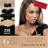 Unprocessed Brazilian Straight Human Hair Weft 230g Full Head