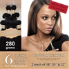 Unprocessed Brazilian Straight Human Hair Weft 280g Full Head