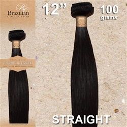 Brazilian Straight Remy Human Hair Weft, 12 Inches 100g