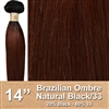 Brazilian Straight Ombre Human Hair Weft, Black/33 14 Inches 100g