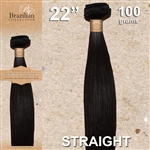 Brazilian Straight Remy Human Hair Weft, 22 Inches 100g