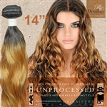 Brazilian Remy Human Hair Weft 14 Inches. 100g Natural Black 27