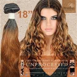 Brazilian Remy Human Hair Weft 18 Inches. 100g Natural Black 30