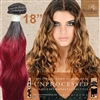 Brazilian Remy Human Hair Weft 18 Inches. 100g Natural Black Burgundy