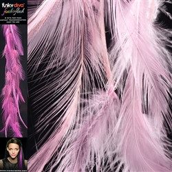 Feather Flash Clip In Hair Extensions Colour Baby Pink