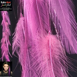 Feather Flash Clip In Hair Extensions Colour Dusty Pink
