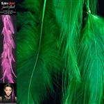 Feather Flash Clip In Hair Extensions Colour Emerald Green