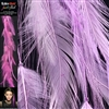 Feather Flash Clip In Hair Extensions Colour Lilac
