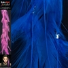 Feather Flash Clip In Hair Extensions Colour Royal Blue