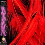 Feather Flash Clip In Hair Extensions Colour Red