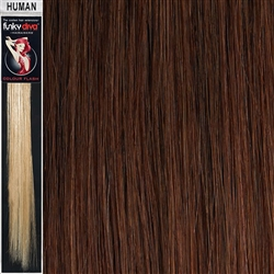 Colour Flash Clip In Human Hair Flashes 14 Inches Colour 33