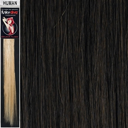 Colour Flash Clip In Human Hair Flashes 14 Inches Colour 4