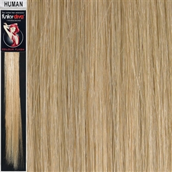 Colour Flash Clip In Human Hair Flashes 18 Inches Colour 22