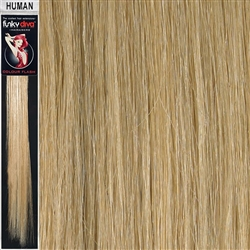 Colour Flash Clip In Human Hair Flashes 18 Inches Colour 24
