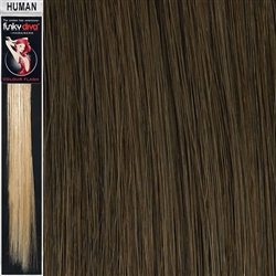 Colour Flash Clip In Human Hair Flashes 18 Inches Colour 8