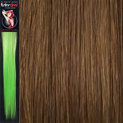 Colour Flash 16 inches Synthetic Clip in Hair Extensions Colour Auburn