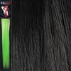 Colour Flash 16 inches Synthetic Clip in Hair Extensions Colour Black