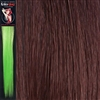 Colour Flash 16 inches Synthetic Clip in Hair Extensions Colour Burgundy